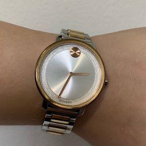 Movado women's Bold Sugar Dial 2-Tone Watch